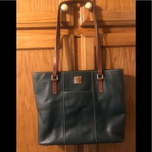 Large Dooney & Bourke Leather Purse-Hunter Green